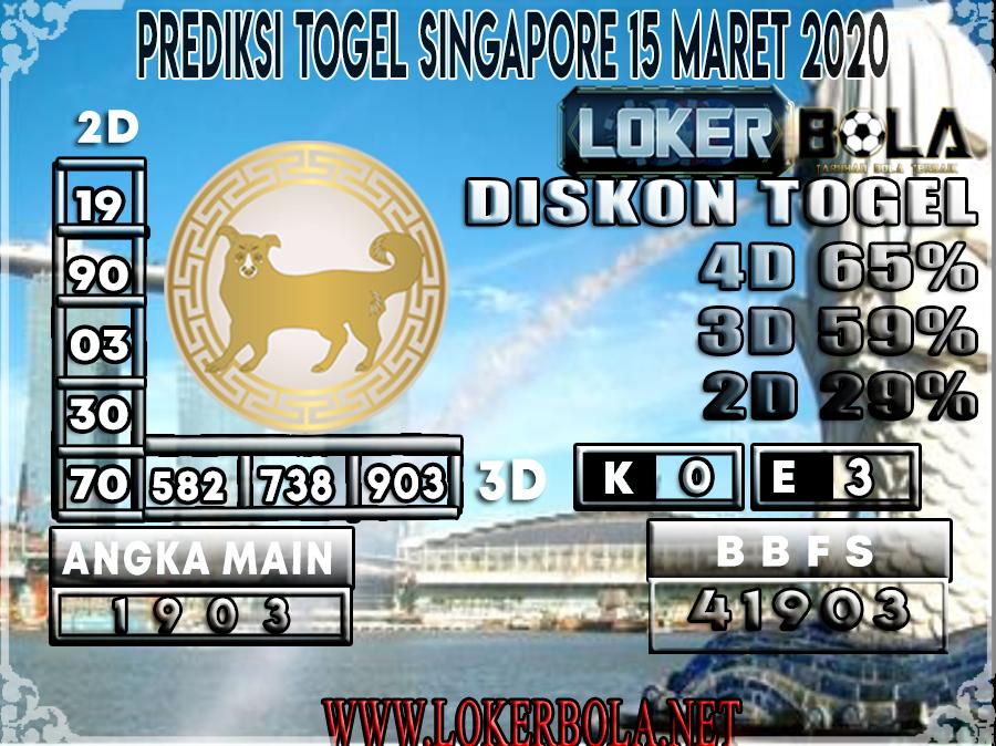 PREDIKSI TOGEL SINGAPORE LOKERBOLA 15 MARET 2020