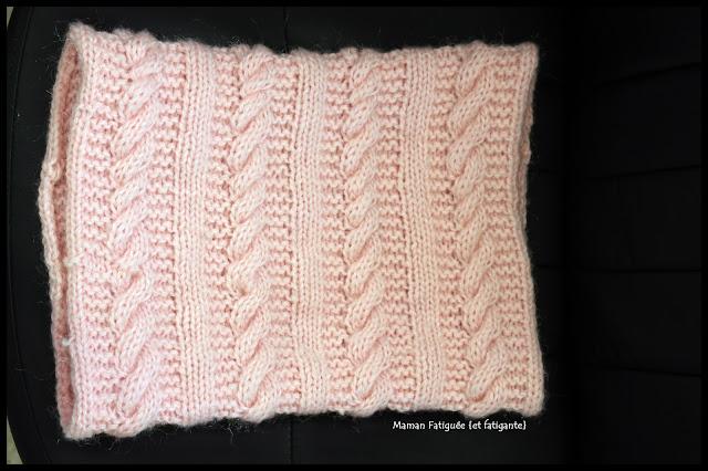snood torsades tricot
