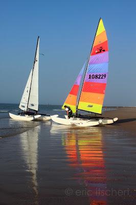 Zwin, voilier, arc en ciel, plage