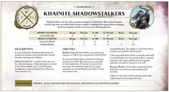 Khainite Shadowstalkers warscroll