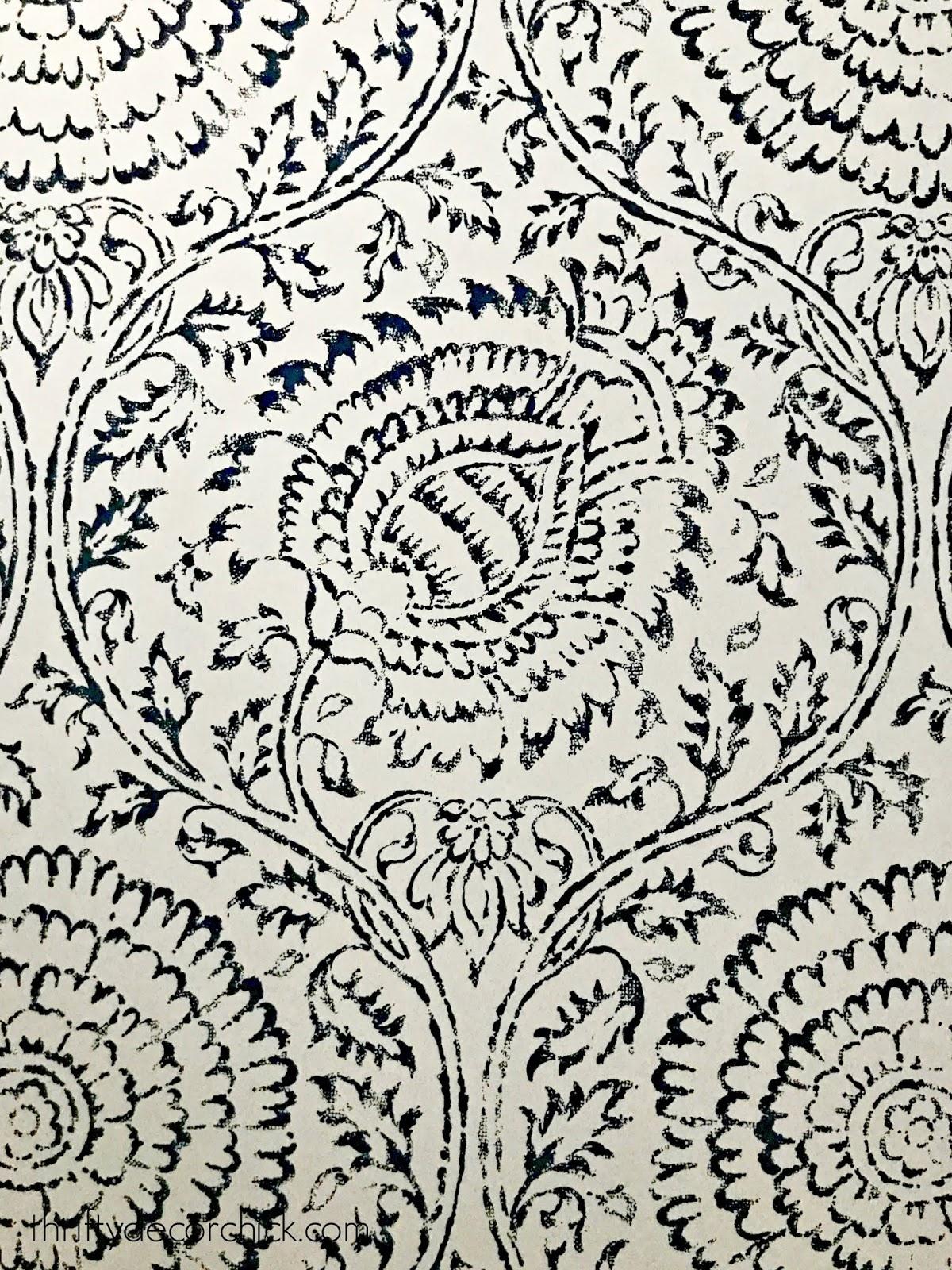 Kamala baker wallpaper indigo