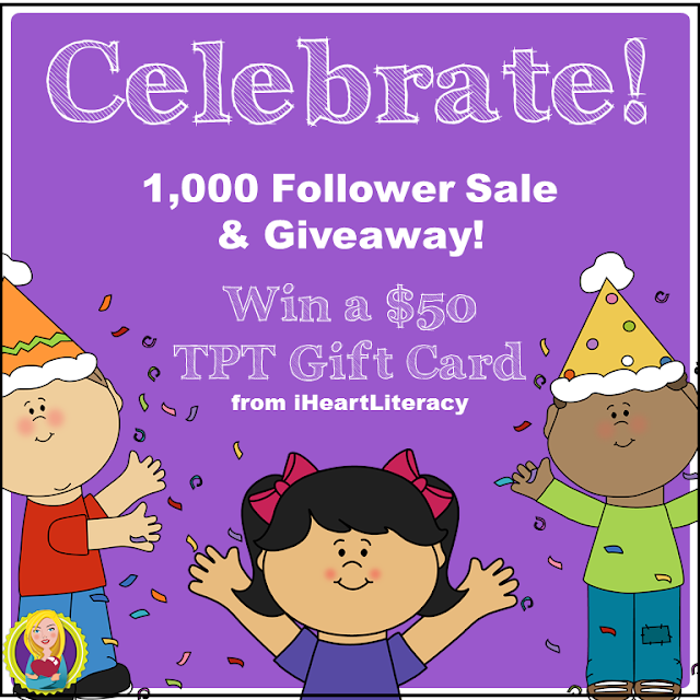iHeartLiteracy TPT Giveaway and Sale!