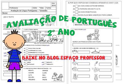 PRVA%2BPO Avaliação de português 2º ano