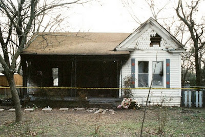 The exterior of the Willingham home after the fire.