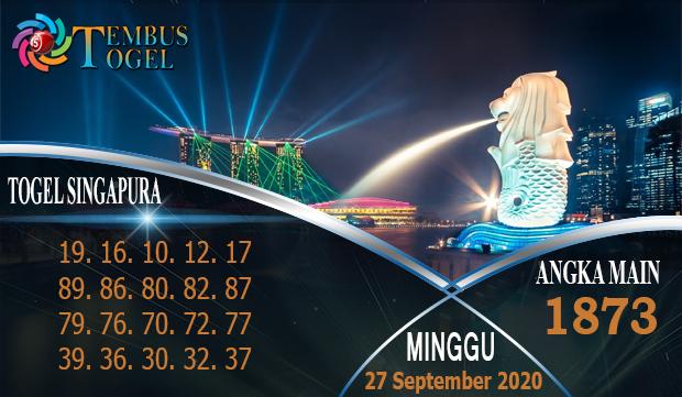 Urutan Nomor Togel SGP Hari Minggu 27 September 2020