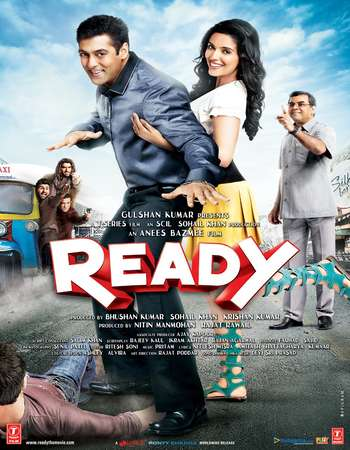 Poster Of Ready 2011 Hindi 450MB BRRip 720p ESubs HEVC Watch Online Free Download Worldfree4u