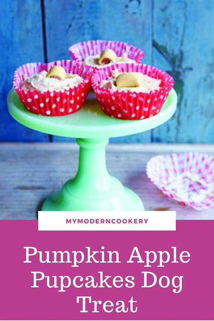 Pumpkin Apple Pup-cakes dog treat