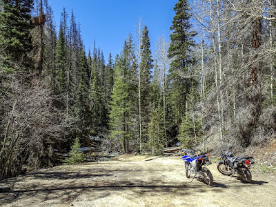 Riding Yamaha motorcycles in the Poncha Pass BLM area with Bob W.