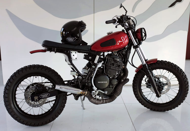 1988 Honda NX Dominator S1 by Sameiros Motors :: via Gas Cap Kustom