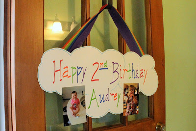 Rainbow Birthday Party Decorations - Photo Clouds