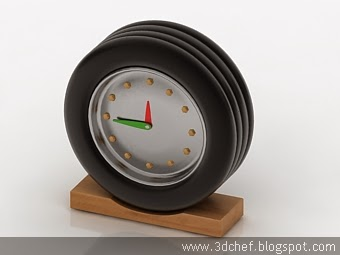 free 3d model table clock