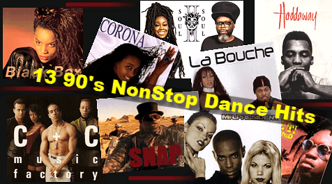 13 Non-stop 90's Dance Hits - MP3