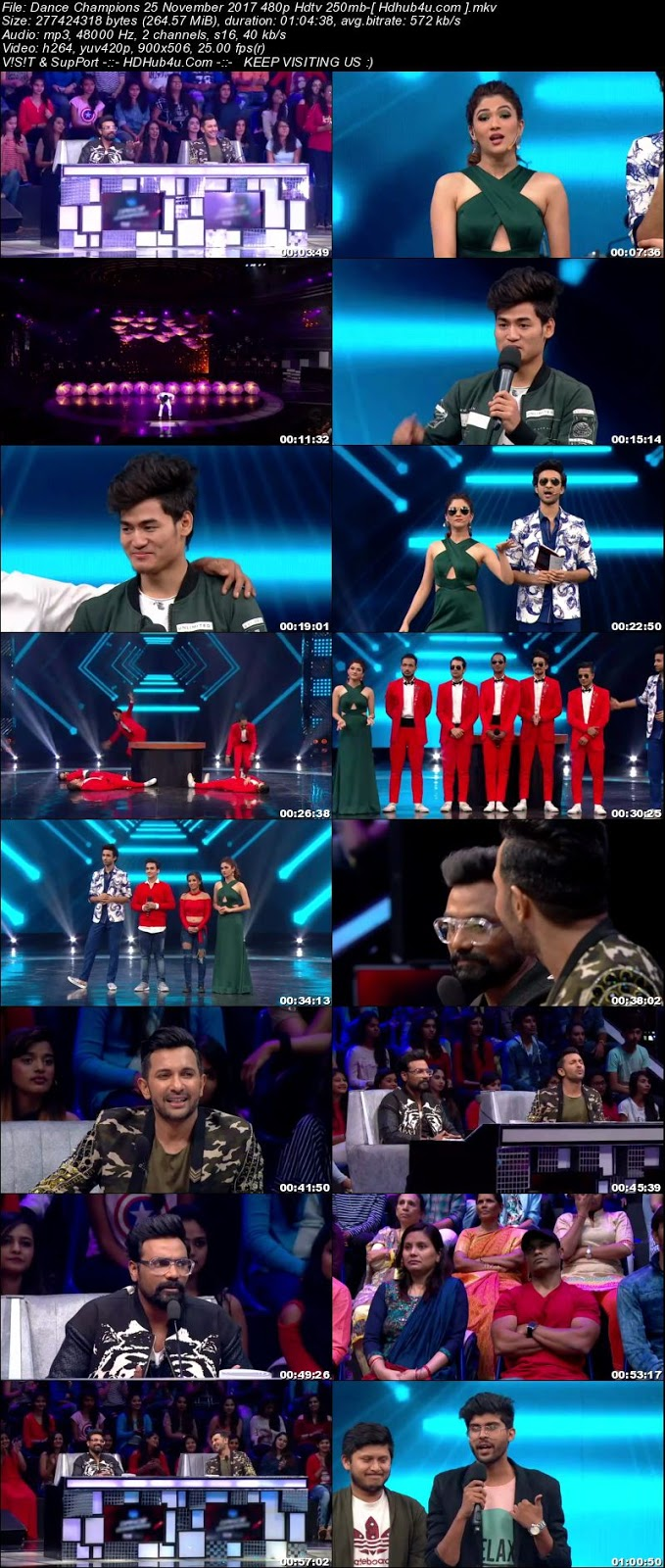 Dance Champions 25 November 2017 480p HDTV 250MB Download