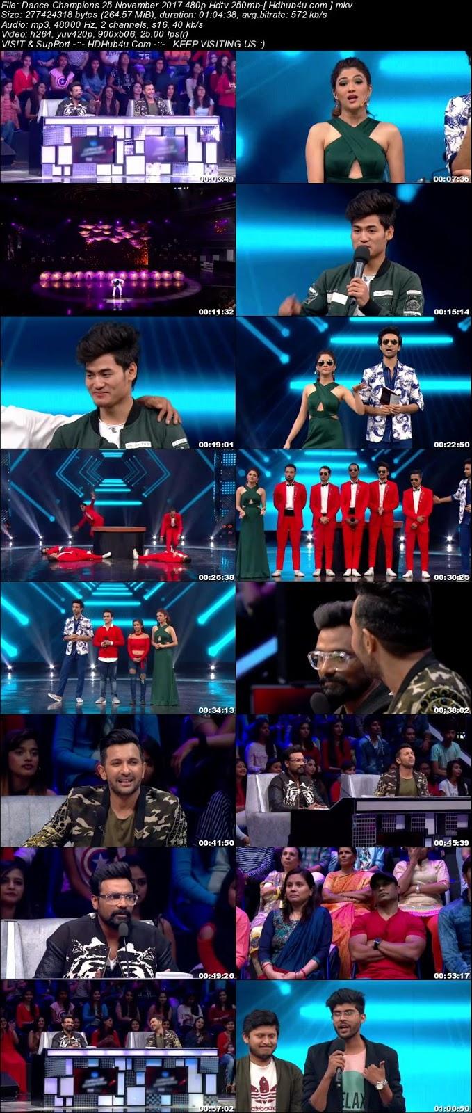 Dance Champions 25 November 2017 480p HDTV 250MB Download