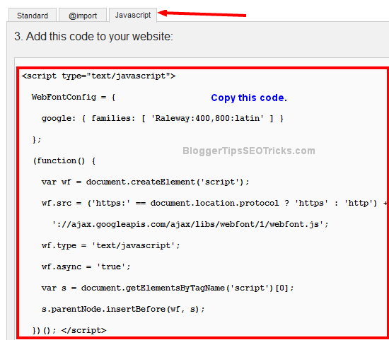 google font javascript