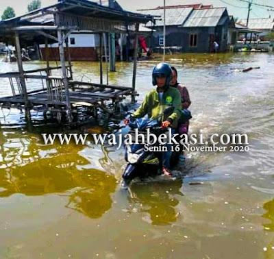 Banjir Rob Kembali Genangi Pesisir Bekasi, Warga Minta Pemerintah Turun Tangan
