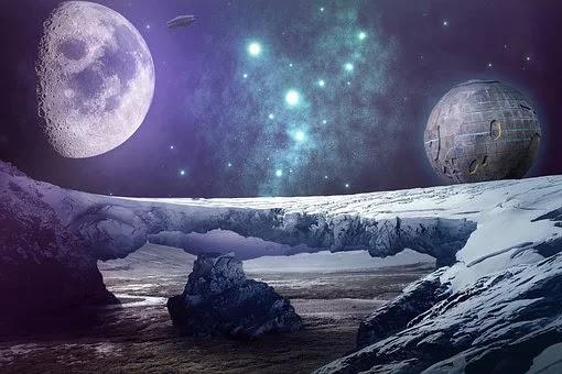 Imagen de un planeta inhóspito donde parece surgir una evolución del alma