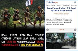 Warganet: Hanya di Indonesia Nyopot Baliho Kayak Mau Perang, OPM Pun Tertawa