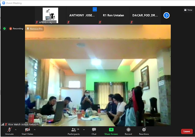 Zoom Training invitation for Rice Watch Action Network (RWAN) or the 3-day Buguias CIS Training online