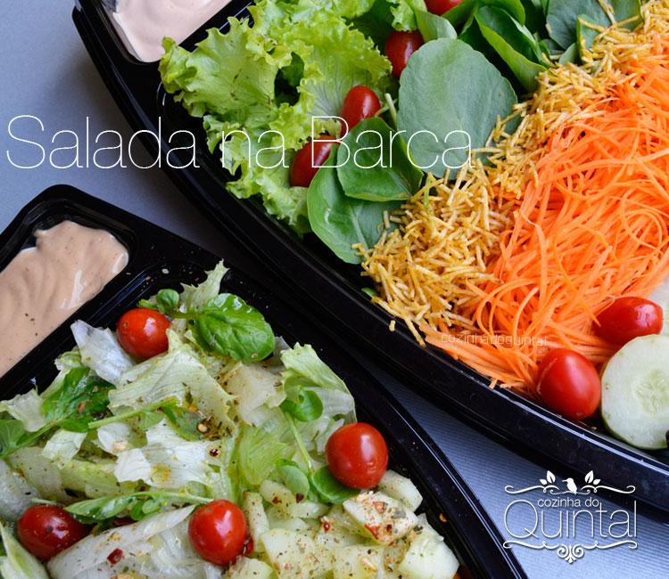 Salada nas Barcas Galvanotek na Cozinha do Quintal