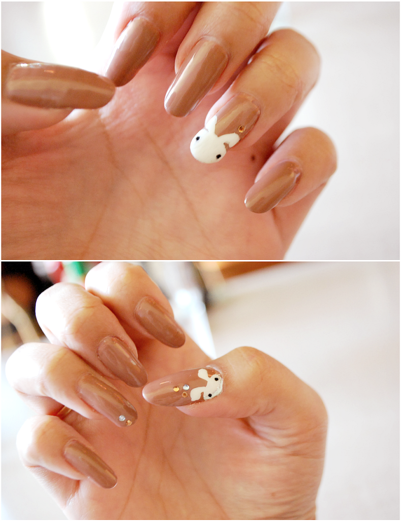 My Darling Rainbow: Simple Bunny Nail Tutorial