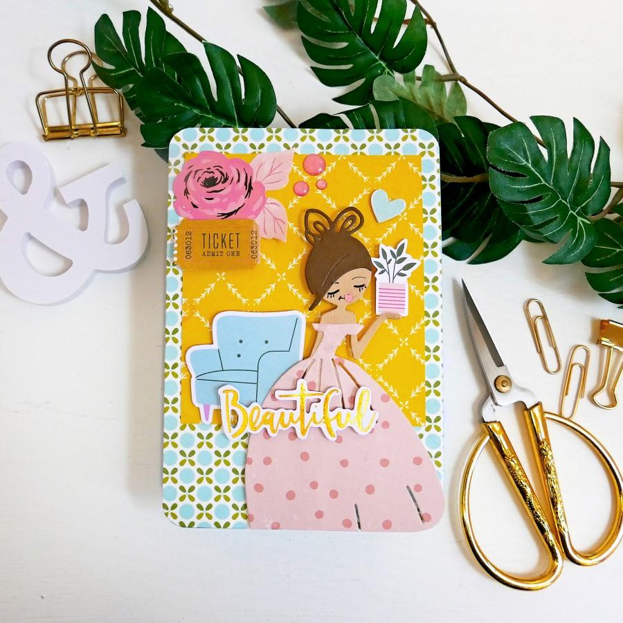 Card o Pagina Pop-up per Scrapbook mini album