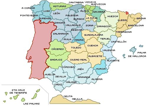 Resultado de imagen de mapa españa politico