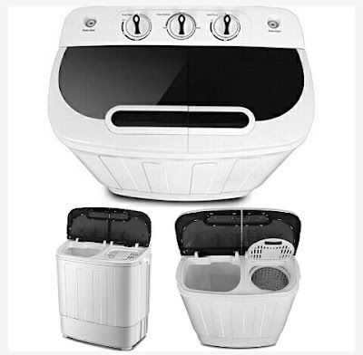 Twin Tub Washer Machine and Spin Dryer - 13lbs Capacity