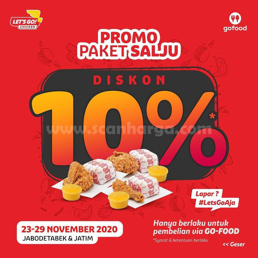 Let's Go Chicken Promo Paket Salju Diskon 10%