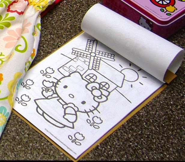 Hello Kitty Themed Operation Christmas Child Shoe Box Gift DIY coloring book