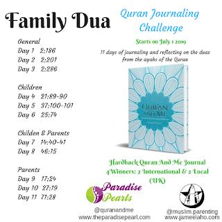 Quran journaling challenge