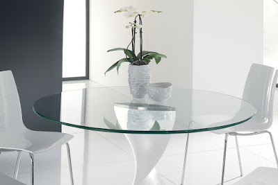 Round Circle Glass Table Top
