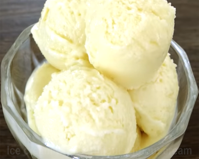 How to make - Ice cream with cornflour without cream - cooksbeautiful
