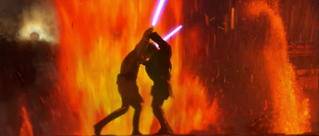 Escena de pelea Star Wars Episodio III