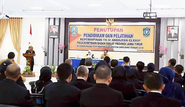 Penutupan Diklat PIM IV di Aula BKD