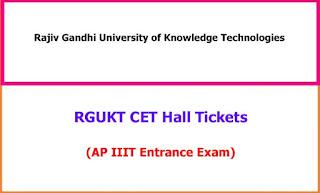 RGUKT CET 2020 Hall Tickets