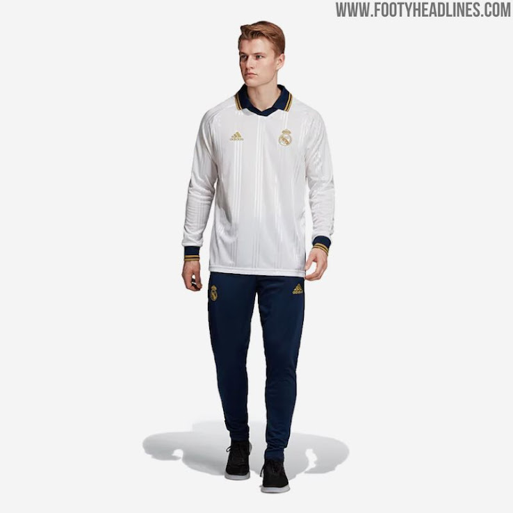 official photos 958fb 08af0 Adidas Real Madrid 19-20 Icon Retro Long-Sleeve Jersey ...