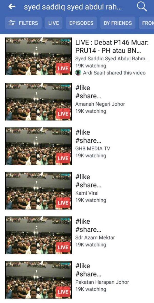 #PRU14: Jumlah Penonton FB Live Boleh Dimanipulasi