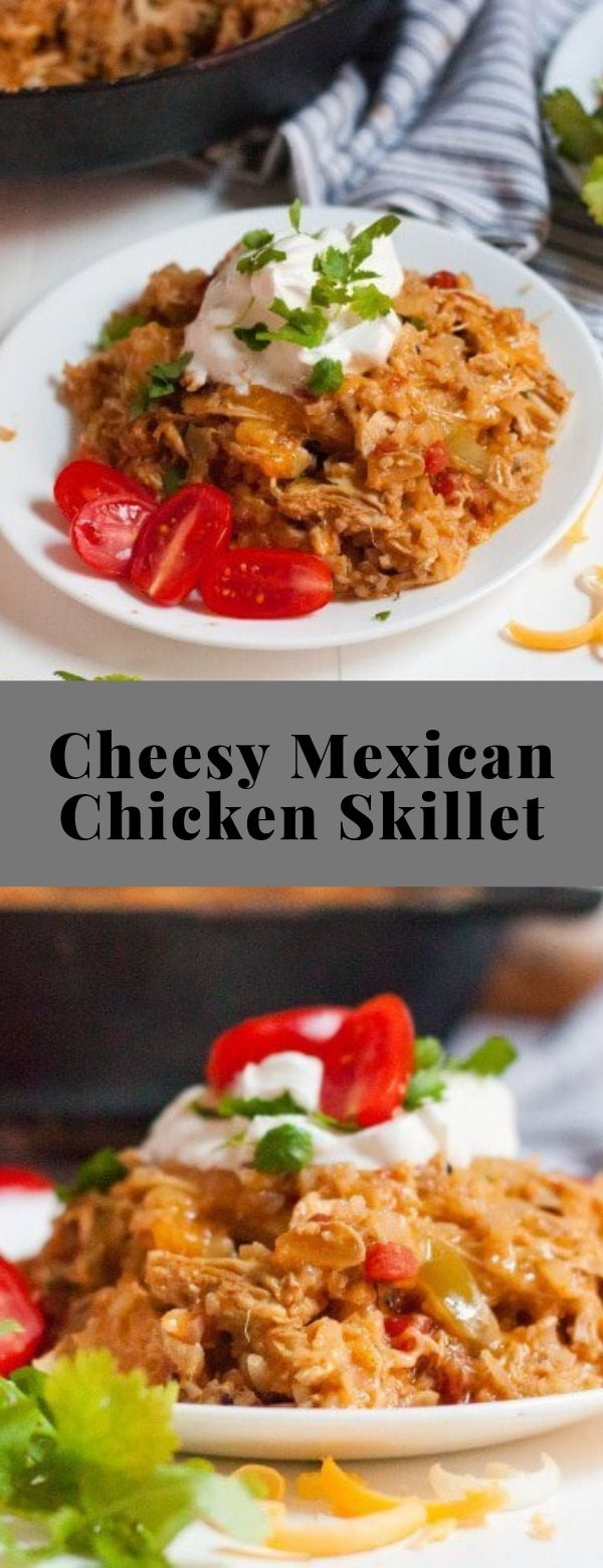 Cheesy Mexican Chicken Skillet  #keto #lowcarb #casserole