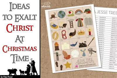 15 Ideas to Exalt Christ at Christmas Time from In Our Pond  #christmas #nativity #christian #advent #jesus #holydays #holidays
