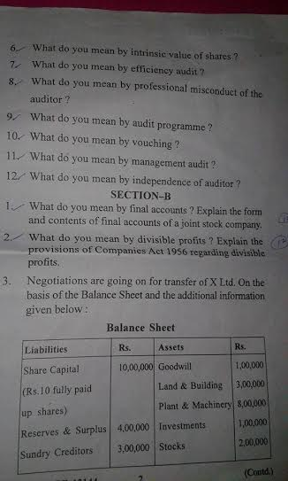 m.com 2nd year question papers