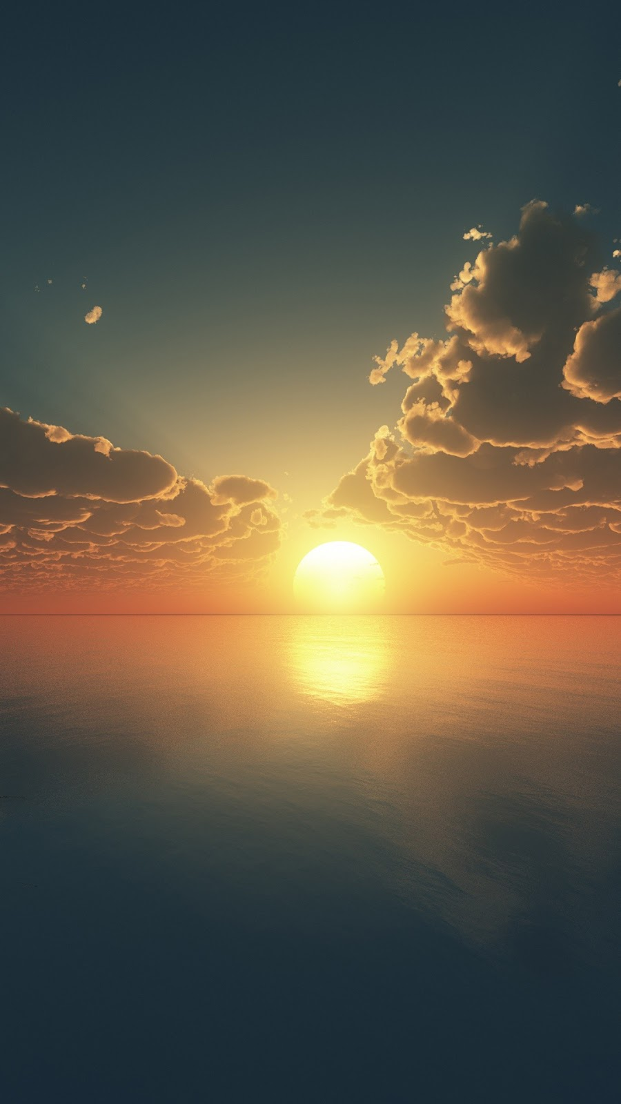 Mặt trời lặn trên biển
