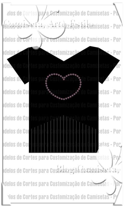 Desenho de Camiseta Customizada