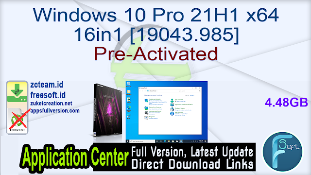 Windows 10 Pro 21H1 x64 16in1 [19043.985] Pre-Activated_ ZcTeam.id