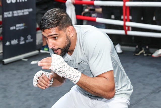 Amir Khan Open Workout Shadow Boxing