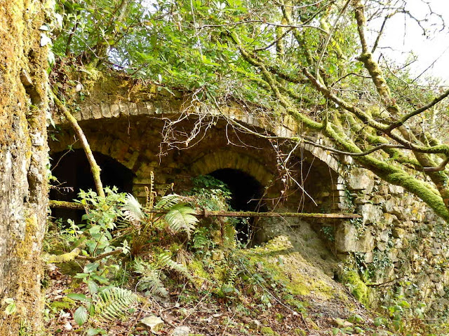 Old ovens once used in the china clay industry