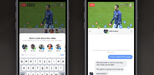 Facebook introduces more ways to connect with friends in facebook live