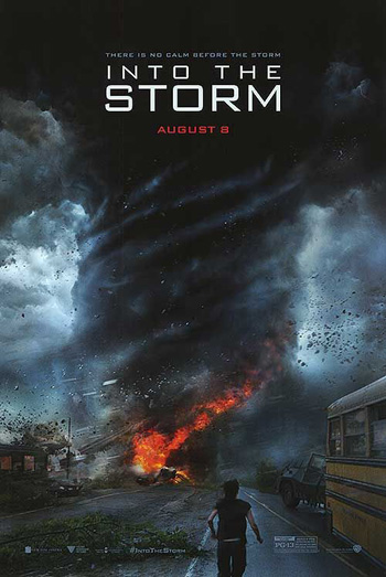 Into the Storm 2014 Dual Audio ORG Hindi 720p BluRay 700MB ESubs poster
