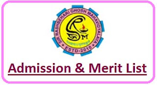 SRGM College Merit List