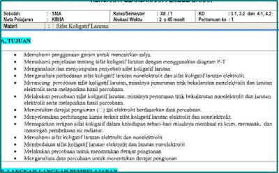 Download RPP 1 Lembar Kimia Kelas 12 Semester 1